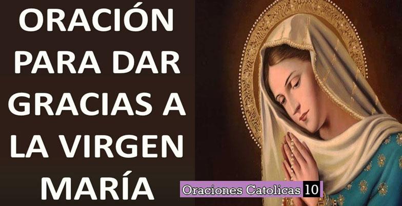 Oracion de agradecimiento a Maria
