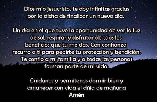 oraciones para la noche catolica