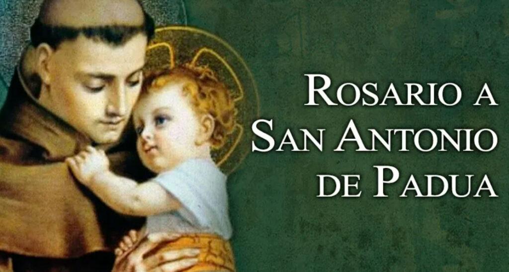 el rosario a san antonio de padua
