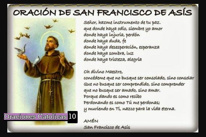 oraciones san francisco de asis