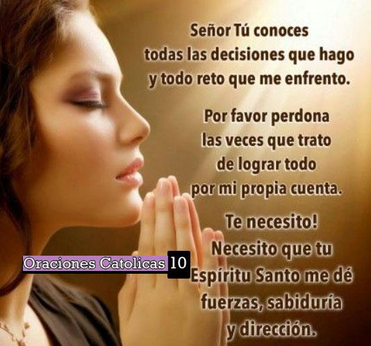 oracion para iniciar el dia
